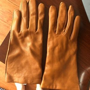 Jcrew Camel Leather Gloves